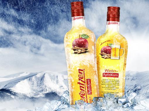 Berentzen – Winter ApfelKorn packaging design